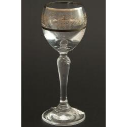 Рюмка для ликера 060 мл «Люция» панто виноград +втертое золото + платиновая кайма над и под декором