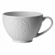 Чашка чайная «Оптик», фарфор, 225мл, D=100,H=65,L=130мм, белый