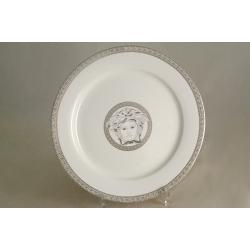 Набор из 6 обеденных тарелок 25 см «Versace - platinum»