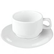Пара чайная «Кунстверк», фарфор, 250мл, D=95,H=85,B=155мм, белый
