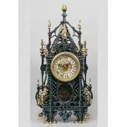Часы «с ландышами» с маятником цвет - синий 46х24см