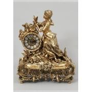 Часы «дама с розами» цвет - золото 35х28см