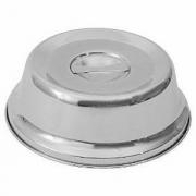 Крышка для тарелки, сталь нерж., D=27,H=8см, металлич.