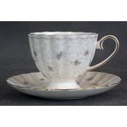 Н 1040011 Вуаль набор чашек чайных 220мл высоких с блюдцем 6/12 (зол.лента)