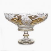 Ваза для фруктов «Хрусталь с золотом 60550» 40,5 см.