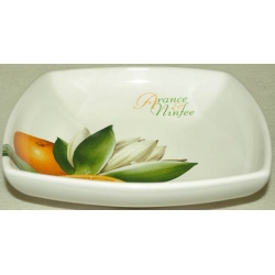 Суповая тарелка «Апельсины и кувшинки» 20 см