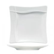 Тарелка квадратная «Плэжа», фарфор, L=27,B=27см, белый