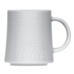 Кружка «Карат», фарфор, 240мл, D=8,H=9,L=11см, белый