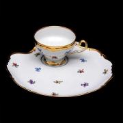 Набор чайный Эгоист 210мл. на 1перс.2пред «Мейсенский цветок»