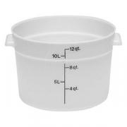 Контейнер для пищев.продуктов, полиэтилен, 11.4л, D=37.8,H=21.3см, белый