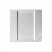 Тарелка квадр. «Оптик», фарфор, L=25.5,B=25.5см, белый