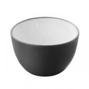 Салатник; фарфор; 300мл; D=10,H=7см; черный,белый
