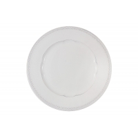 Тарелка обеденная Augusta (белый) без инд.упаковки