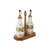 Набор из 2-х бутылок для масла и уксуса на подставке Апельсины