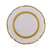 Набор тарелок «Лента золотая матовая 2» 17 см. 6 шт.