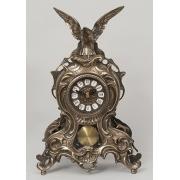 Часы «дуэт» на мрам. подст. цвет - золото 54х49см.