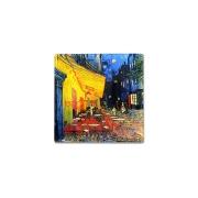 Тарелка квадратная Ночная терраса кафе (Ван Гог) без инд.упаковки