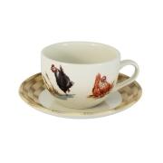 Чашка с блюдцем Птичий двор