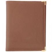 Папка-меню 18*23см коричневая А5