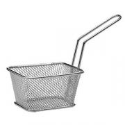 Корзинка для картошки фри; сталь нерж.; H=55,L=100,B=90мм
