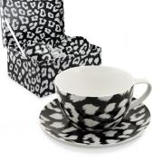 Пара чайная для завтрака 1 перс 2 пр Черно-белая
