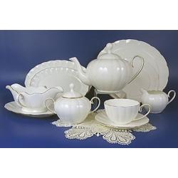 Н 1001011 Магнолия белый сервиз чайный 6/18 (зол.лента)
