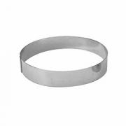 Кольцо кондитерское, сталь нерж., D=200,H=45мм, металлич.