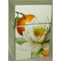 Банка для сыпучих продуктов «Апельсины и кувшинки» 15 см
