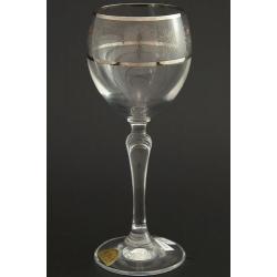 Рюмка для вина 200 мл «Люция» панто виноград +втертое золото + платиновая кайма над и под декором