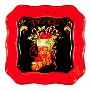 Блюдо квадратное 31см «Винтаж Новогодний»