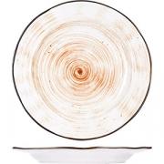 Тарелка мелкая «Пастораль» D=22.8см; оранжев.