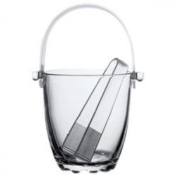 Емкость для льда + щипцы «Sylvana» стекло
