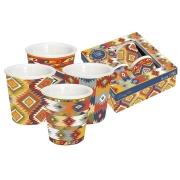 Набор из 4-х кружек для эспрессо Ацтеки в подарочной упаковке