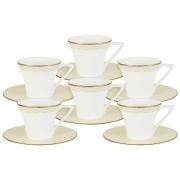 Кофейный набор Бриз Голд: 6 чашек + 6 блюдец