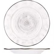 Тарелка мелкая «Пастораль» D=22.8см; серый