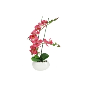 Декоративные цветы Орхидея бордо в керамической вазе