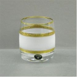 Набор стаканов «Идеал» 290 мл; виски; декорирование золотом; матовая полоса