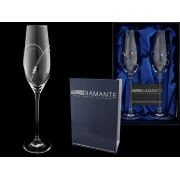 Набор бокалов для шампанского (2 шт) Большое сердце с кристаллами