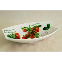 Блюдо овальное «Помидоры и оливки» 25х16 см
