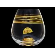 Стакан для виски Drink master, Пружинка с золотым дном упаковка 4 шт.
