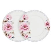 Набор из 2-х обеденных тарелок Розовый блюз