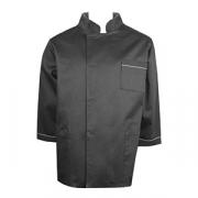 Куртка двубортная 44-46размер, твил, черный