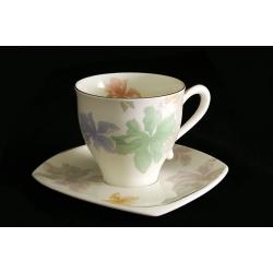 Чайный набор из 12 предметов: 6 чашек+6 блюдец «Орхидея» 0,25 л
