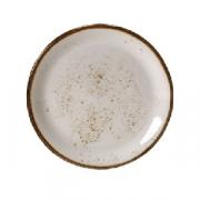 Тарелка пирожковая «Крафт», фарфор, D=15см, белый