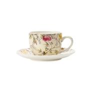 Чашка с блюдцем для кофе Летние цветы в подарочной упаковке