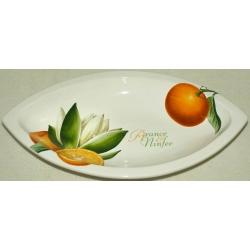 Овальное блюдо «Апельсины и кувшинки» 32 см