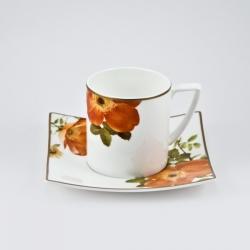 Набор 6 кофейных пар 100мл «Ариста Блум»