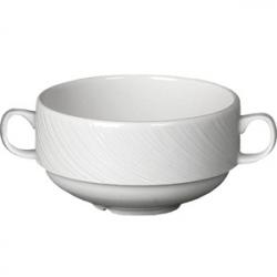 Бульон.чашка «Спайро» 285мл 2руч.фарфор