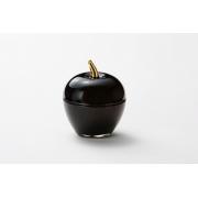 Вазочка с крышкой «Яблоко» 7,5*9 см, цвет: черный