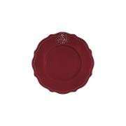 Тарелка закусочная Аральдо (бордовый)